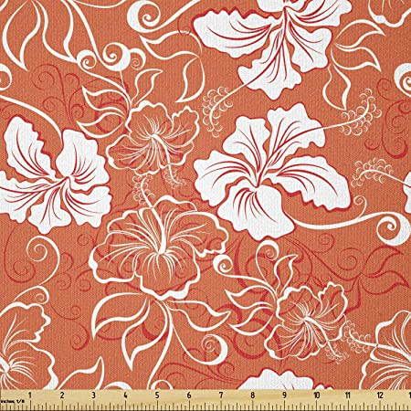Polyester Fabric Black Fabric Orange Fabric Floral Fabric Pattern Clothing Fabric By The Meter Fashion Fabric Apparel Fabric Craft Supplies