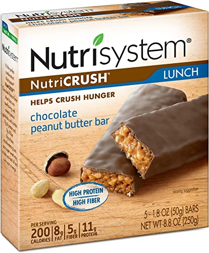 Nutrisystem NutriCRUSH Chocolate Peanut Butter Bars, 30 ct