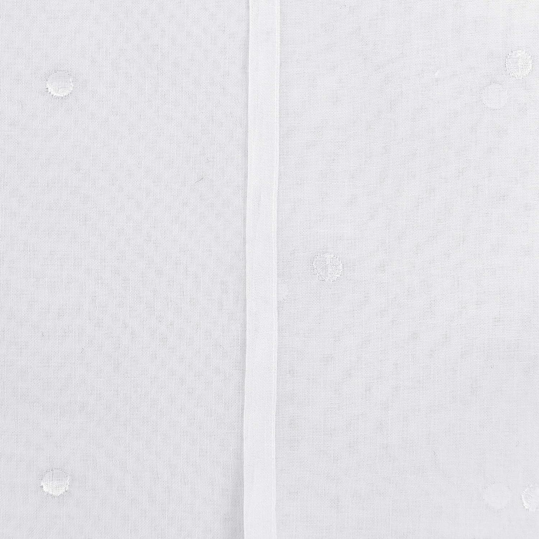 Doconovo Lot de 2 Rideaux /Étoile Voilages Broderie Motif /à Oeillets pour B/éb/é 140x175 cm Rose