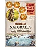 Iams Naturally Lachs, Nassfutter mit Lachs für erwachsene Katzen