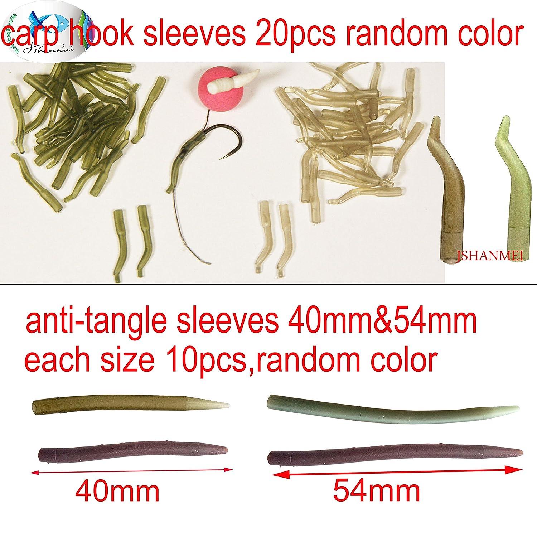 ganchos y cebos de pesca plomo tubos de la marca Jshanmei/® Caja de aparejos surtidos de pesca de carpas