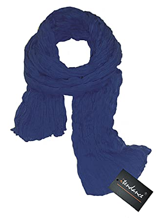 Chèche Écharpe Double Très Long 3 Mètres 100% coton Foulard bleu indigo   Amazon.fr  Vêtements et accessoires eba24c2f4aa