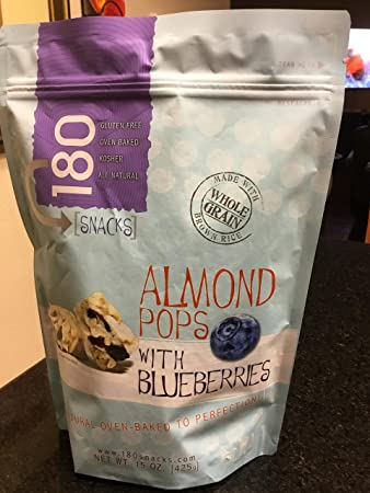 180 Snacks (Almond Pops with Blueberries)
