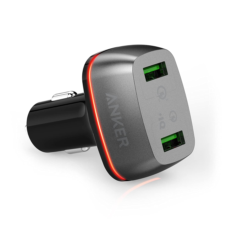 Anker PowerDrive Cargador de Coche con 2 Puertos USB y Carga Rápida 3.0, 42W