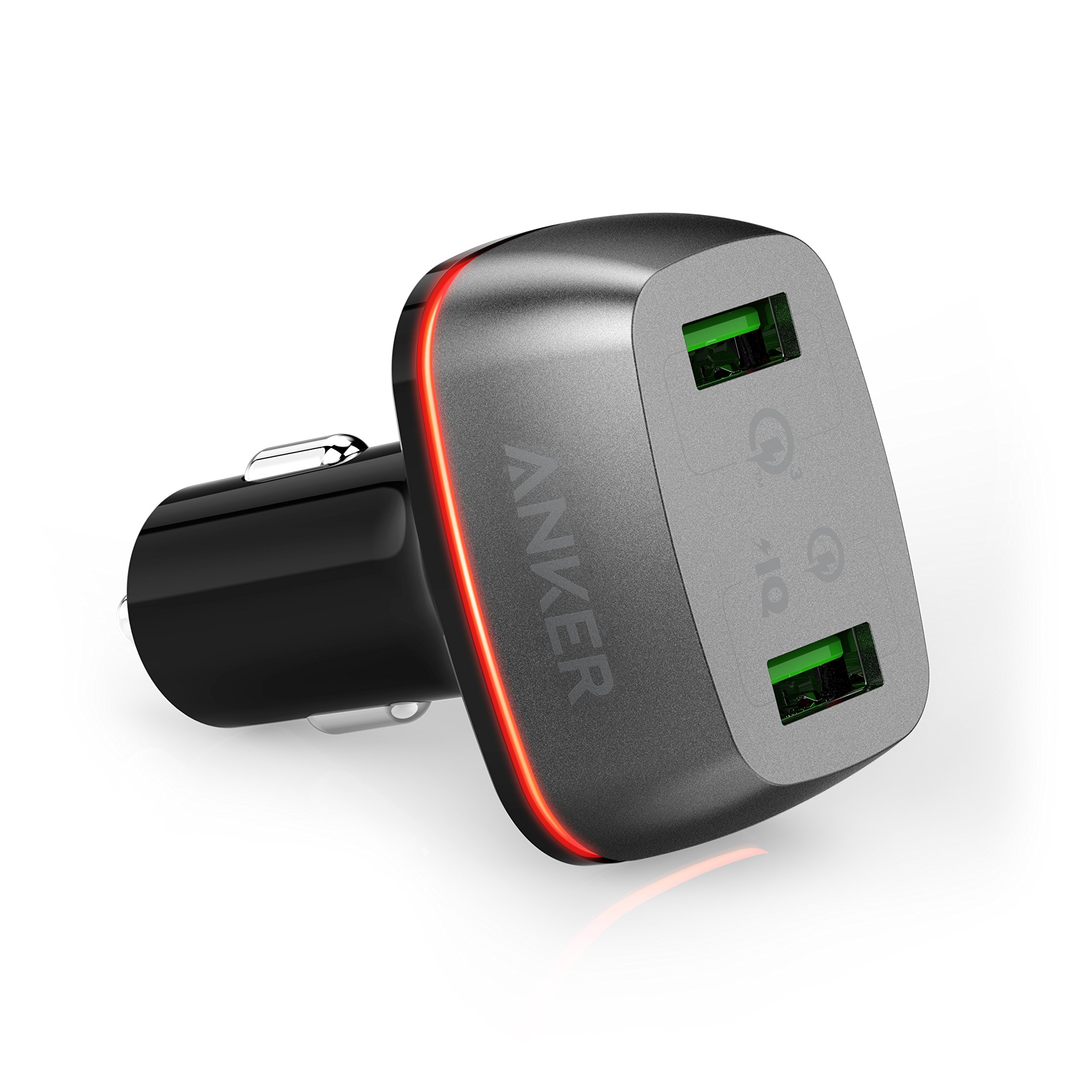 Anker Quick Charge 3.0 42W Dual USB Car Charger, PowerDrive+ 2 for Galaxy S7/S6/Edge/Plus, Note 5/4 and PowerIQ for iPhone 7/6s/Plus, iPad Pro/Air 2/mini, LG, Nexus, HTC and More