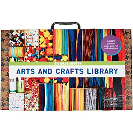 Amazon Com Kid Made Modern Arts And Crafts Library Set Kid Craft