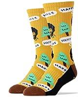Oooh Yeah Men's Luxury Combed Cotton Athletic Socks Bob Ross (happy tree)