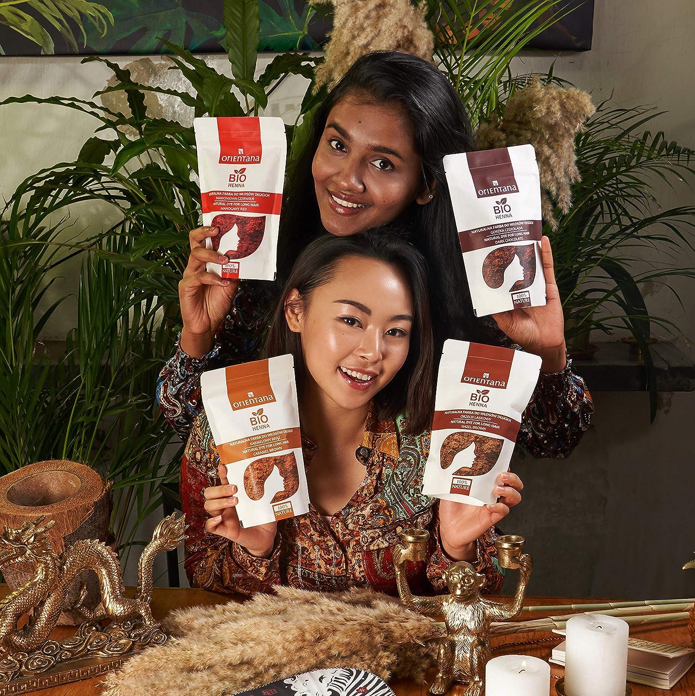 Orientana Bio Henna Für Mittellanges Und Kurzes Haar Bitterschokolade 100 Vegan 100 Aus Kräutern Eine Dauerhafte Haarfarbe Die Dem Haar Fülle Verleiht 50 G Beauty