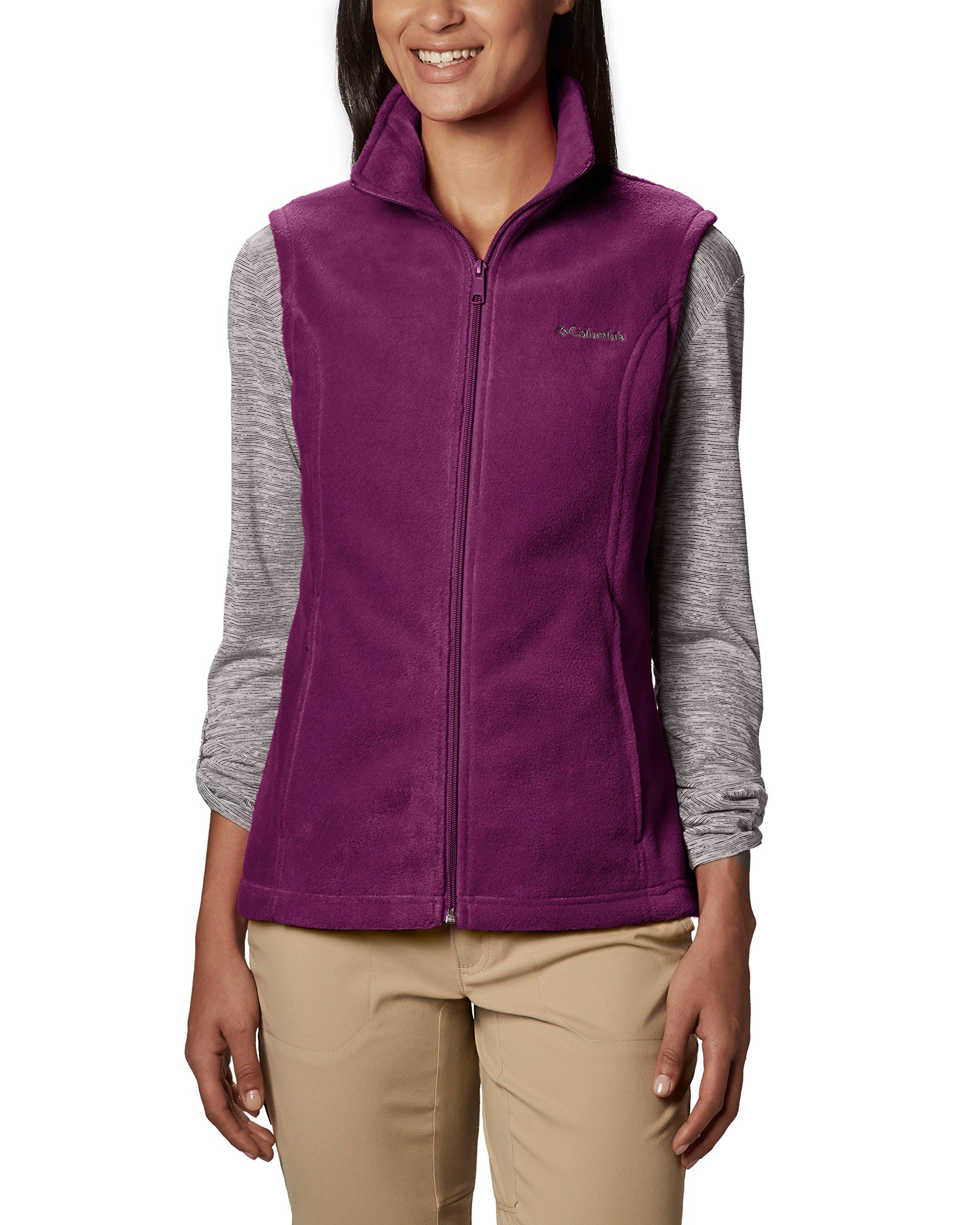 Columbia Women's Benton Springs Soft Fleece Vest, Dark Raspberry, Large by Columbia