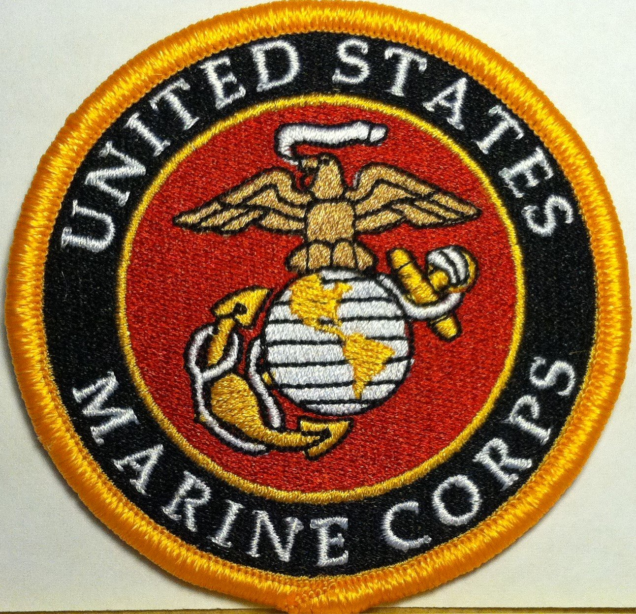 Amazon com United States Marine Corps Iron On Patch USMC Emblem Gold  BorderAmazon com United States Marine Corps Iron On Patch USMC EmblemMarine Corps Themed Room  Man cave bedroom Bedroom at Real  . Marine Corps Themed Room. Home Design Ideas