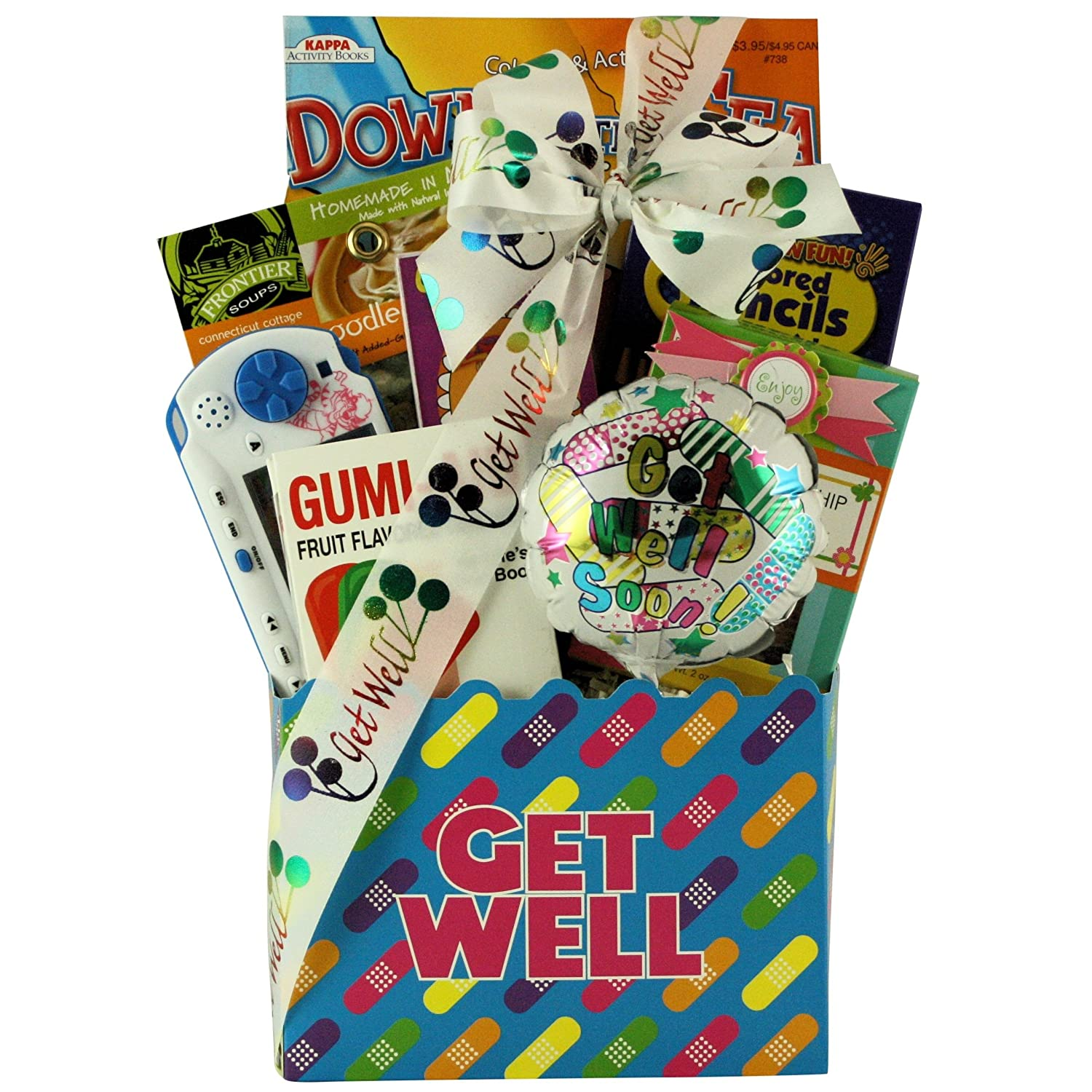 CDM product GreatArrivals Gift Baskets Kid's Birthday Gift Basket Ages 6 to 8-1.36 Kg, Life's Boo Boos Get Well big image