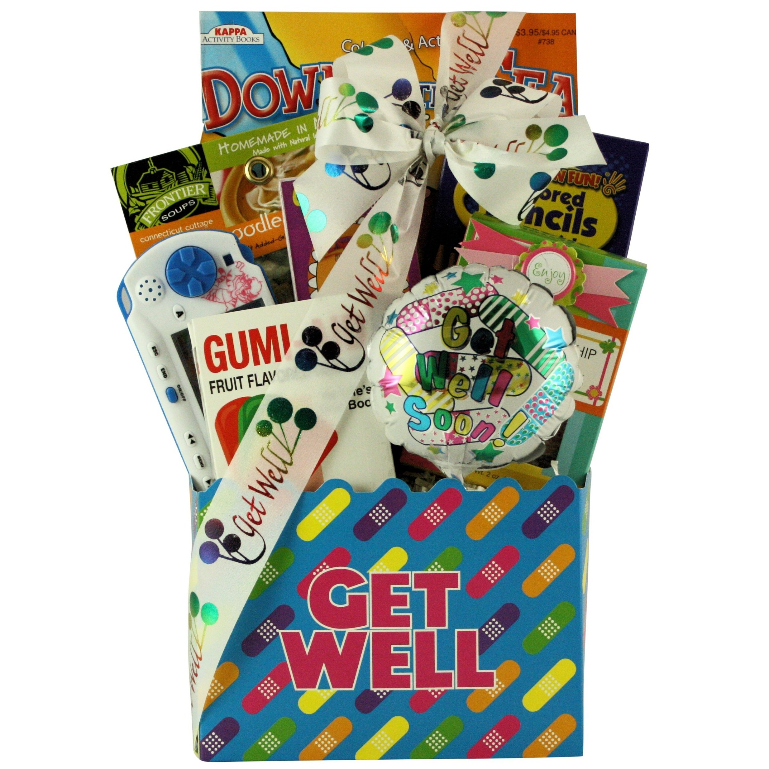 CDM product GreatArrivals Gift Baskets Kid's Birthday Gift Basket Ages 6 to 8-1.36 Kg, Life's Boo Boos Get Well small thumbnail image