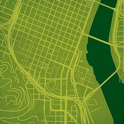 Amazon Com Portland State University Campus Map Art Unframed 12 X