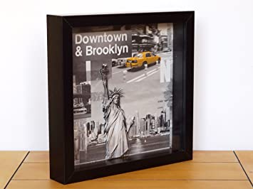 New York Themed Room Bedroom Accessories Deep Box Frame Wall Art ...