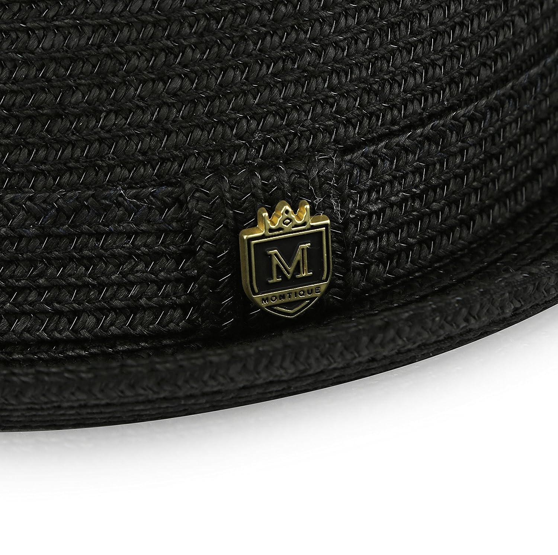 MONTIQUE Braided Toyo Short Snap Brim Teardrop Dent Pinch Hat H56