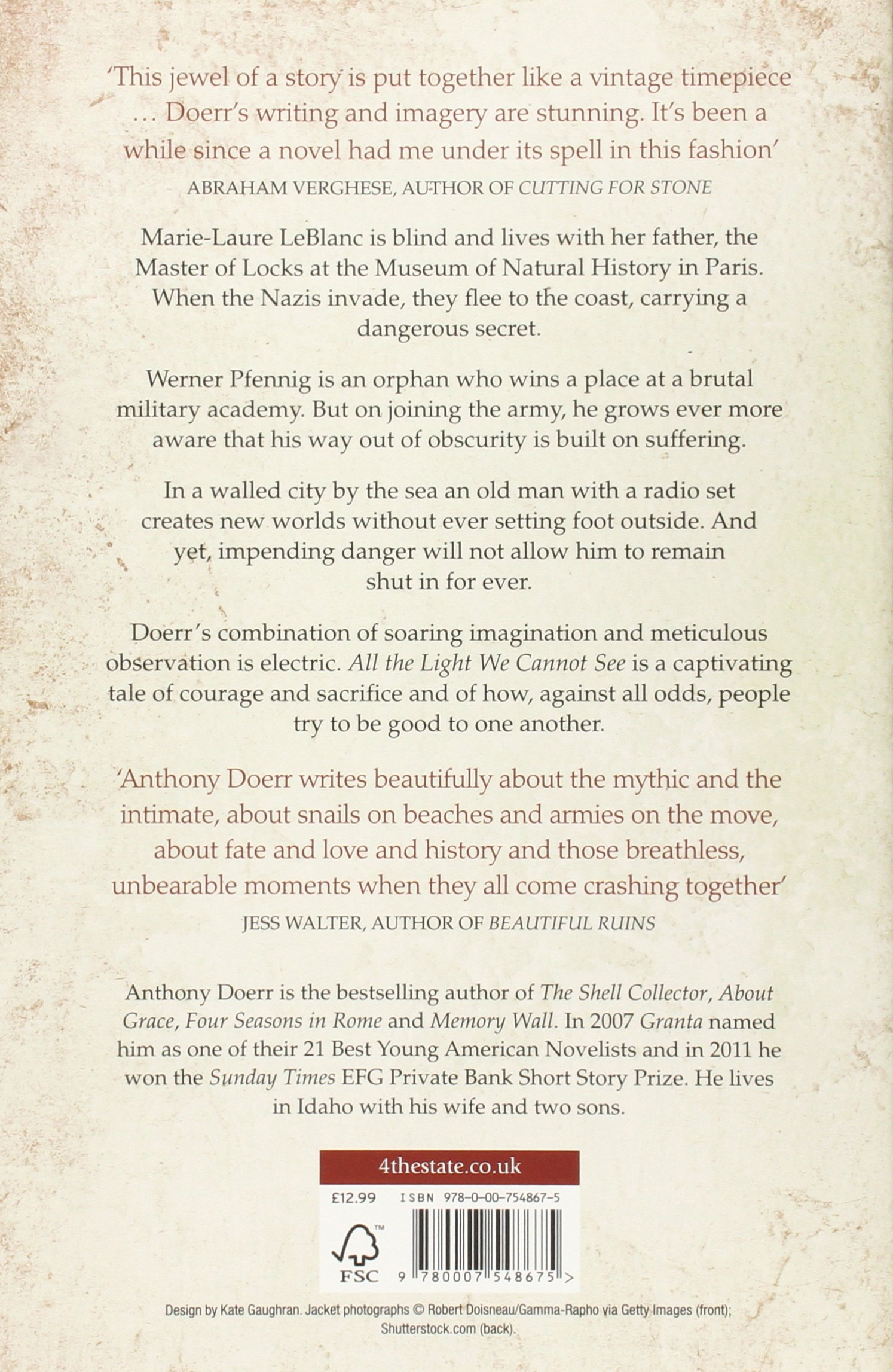All the Light We Cannot See Anthony Doerr Amazon