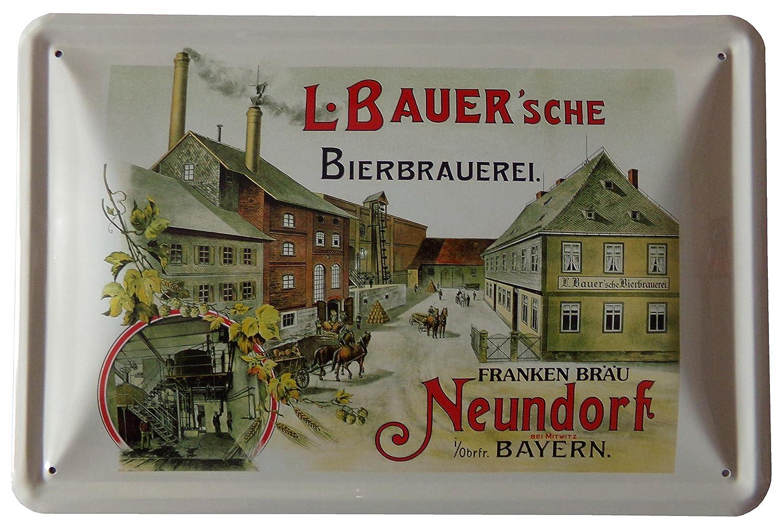 Franken Bräu - L. Bauer - Neundorf - Mitwitz Bayern - Blechschild 20 ...