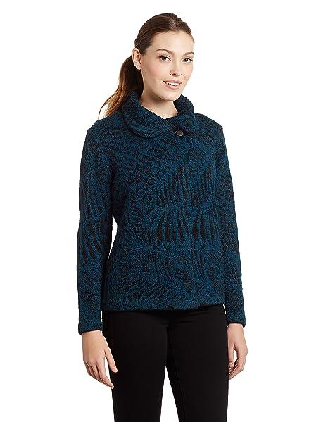 Amazon.com: De la Mujer 100% Pure Alpaca chaqueta de punto ...