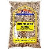 Rani Desi Masoor (Masur) Whole 4lbs (64oz) (aka. Pardina Spanish / American Brown Lentils Whole) ~ All Natural | Vegan | Glut