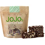 JOJO's, Guilt Free 70% Dark Chocolate Bark, NON-GMO Protein Raw Almonds and Pistachios and Dried Cranberries, 8.4oz Bag With 7-1.2oz Bars, One Week Supply