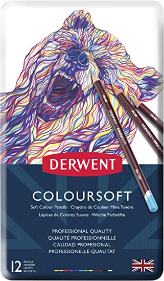 Derwent Colour Soft 6 pencils Coloursoft pack 6 colourpencil blendable smooth