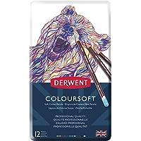 Derwent Coloursoft Serisi Kuru Kalem Seti - 12 Renk Metal Kutulu