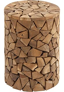 Deco 79 37805 Teak Wood Round Stool, ...