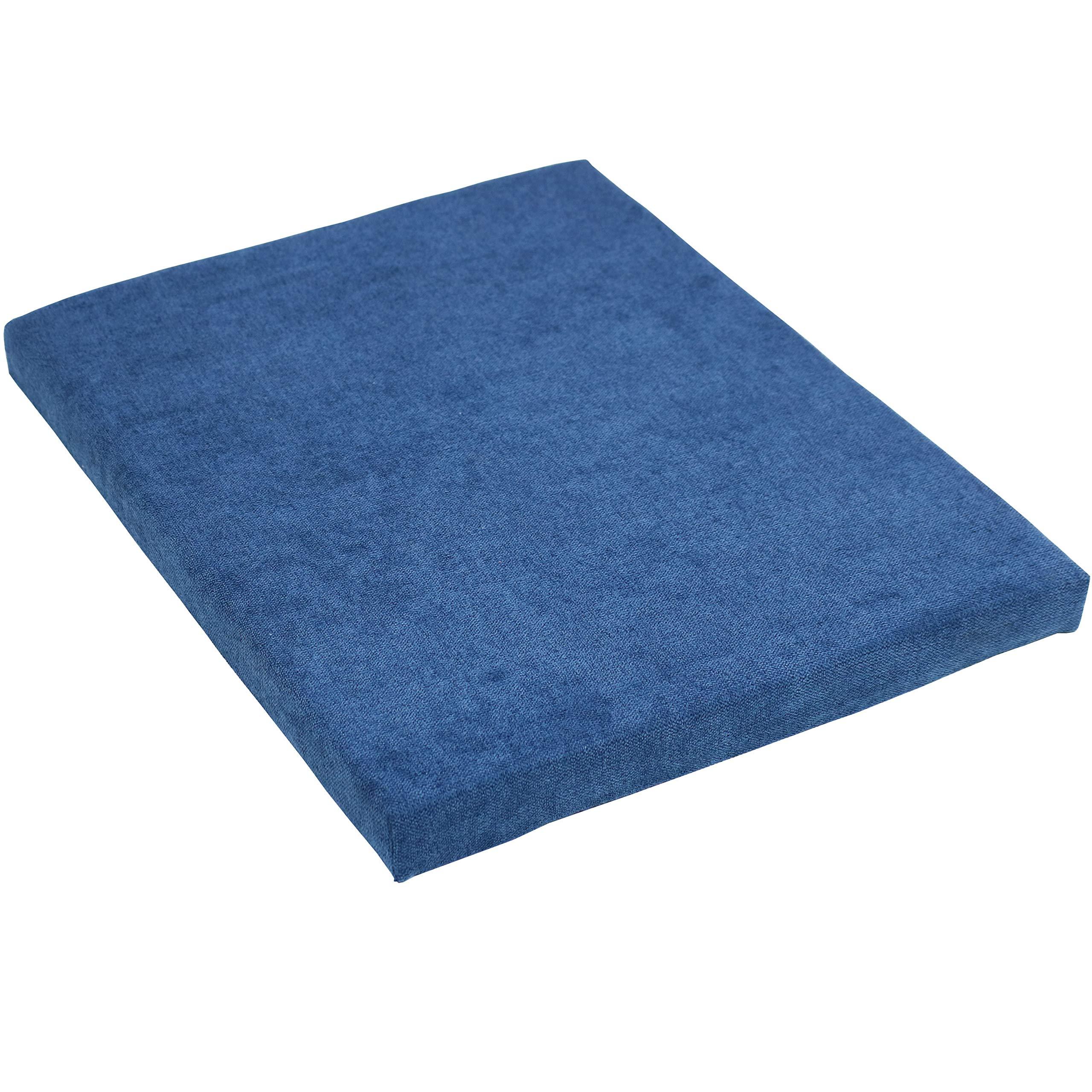 CASL Brands File Cabinet Cushion Seat Top for Mobile Pedestals, Magnetic Back, Blue