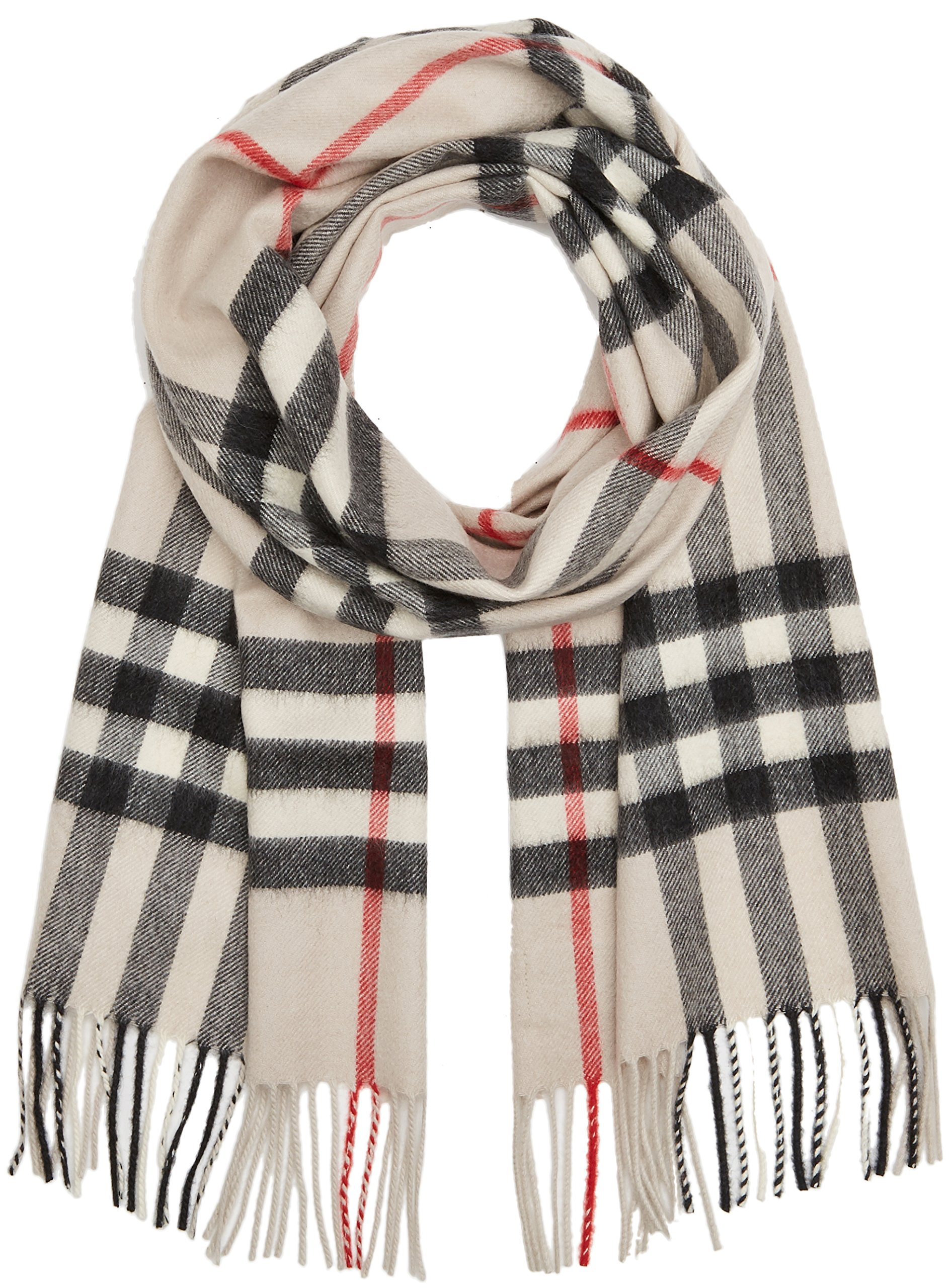 Burberry Womens Heritage Giant Check Scarf Stone