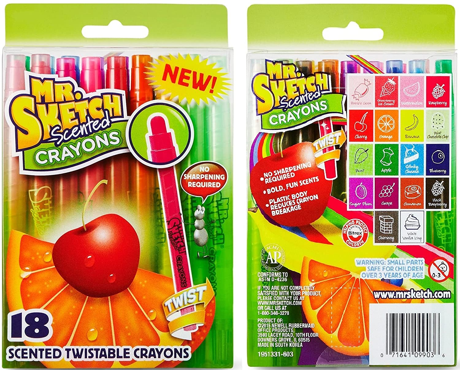 Mr. Sketch Combo Pack, a 12 Pack of Scented Markers and an 18 Pack ...