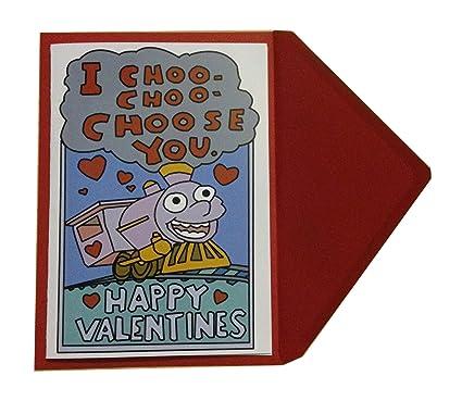 Tarjeta de felicitación de San Valentín con texto «I Choo Choo you ...