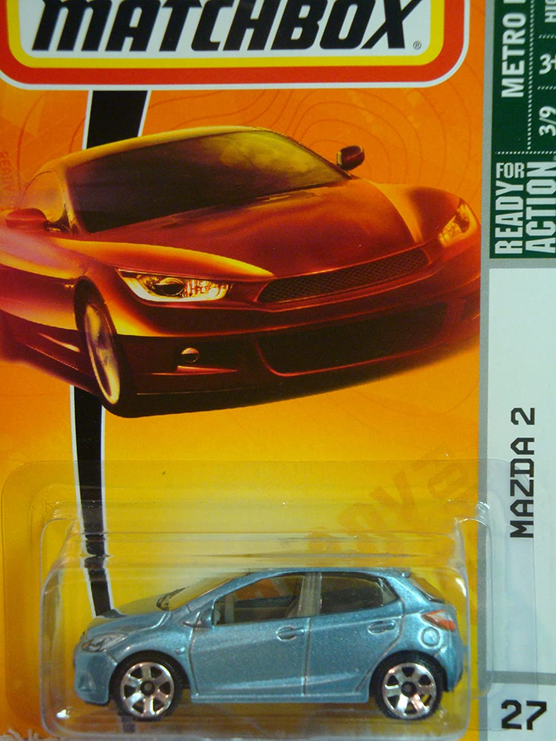Matchbox Metro Rides Mazda 2 Lite Blue Detailed