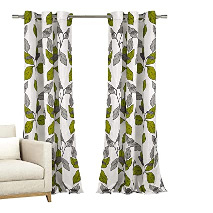 Home Maison Set Of Two 2 Window Curtains Grommeted Panels With White