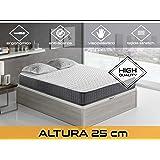 Dormi Premium Velvet 25 FA - Colchón Viscoelástico, 160 x 200 x 25 cm,