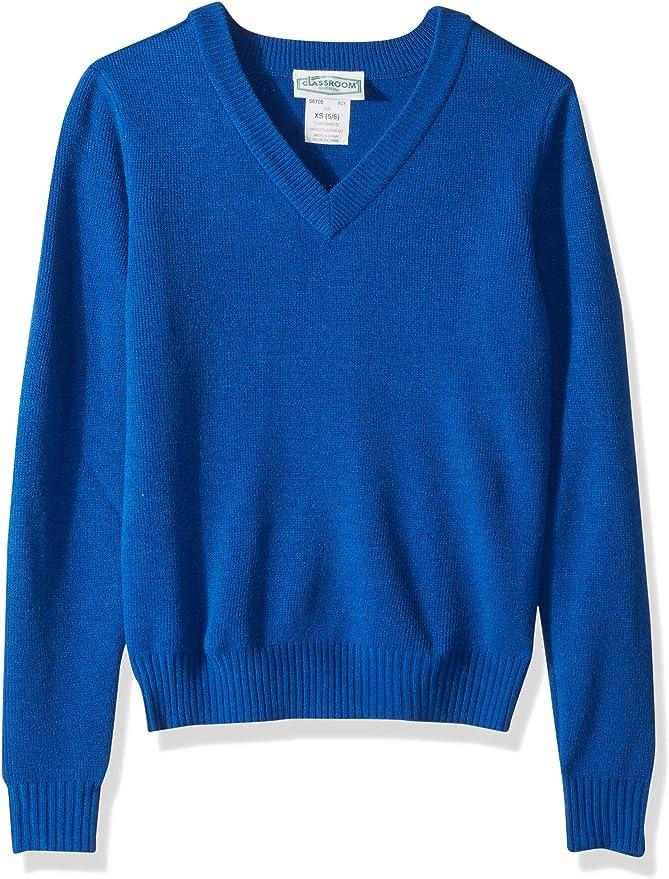 Classroom School Uniforms Kids' Long Sleeve V Neck Sweater