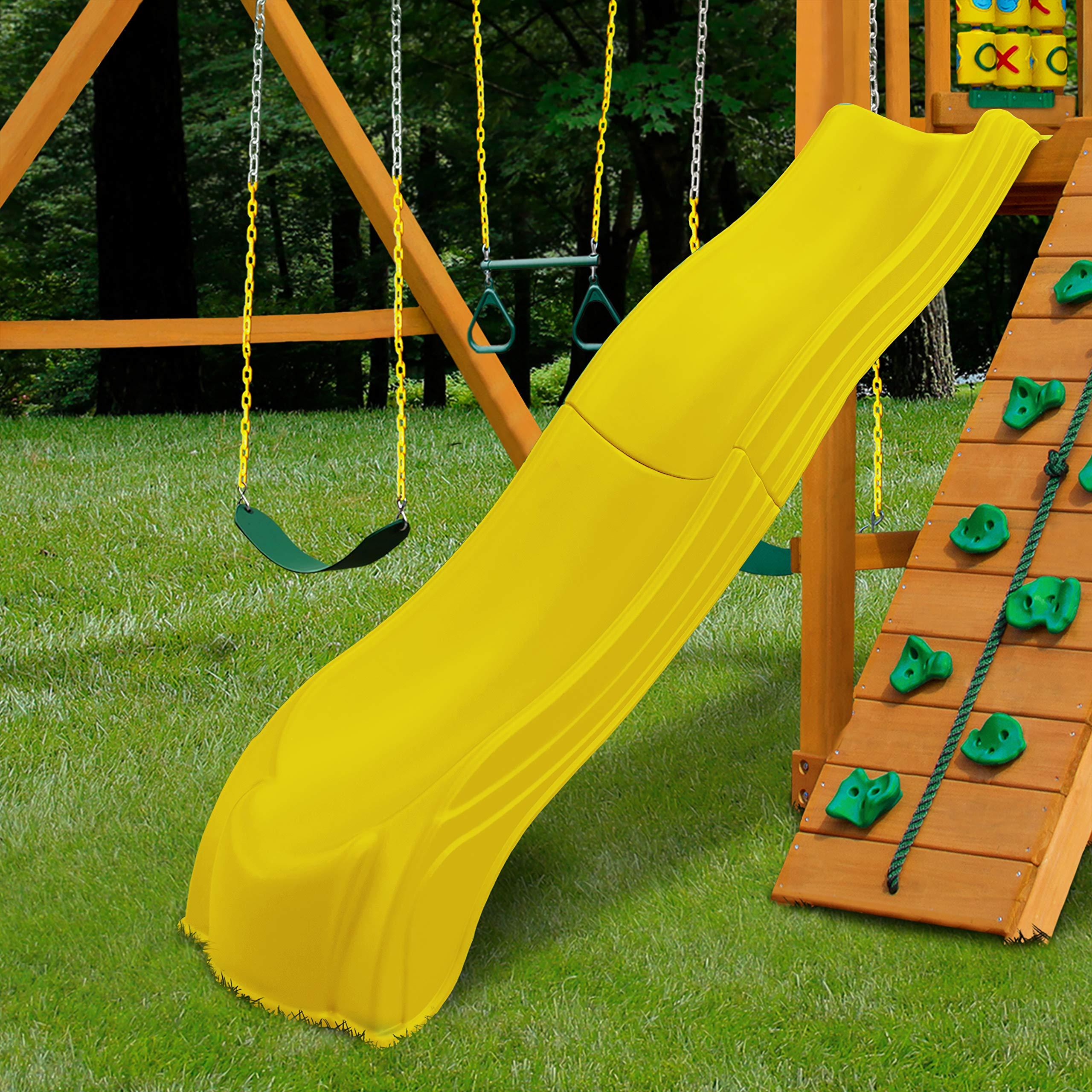 Swing-N-Slide WS 5031 Olympus Wave Slide 2 Piece Plastic Slide for 5' Decks, Yellow by Swing-N-Slide (Image #3)