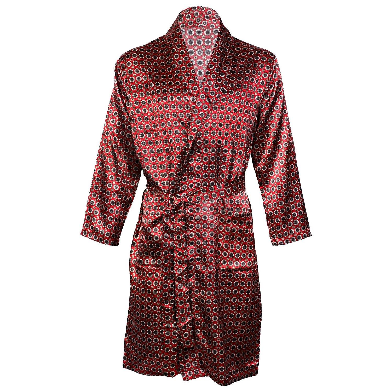 Octave Luxe Pour Homme Imprim Wrap Summer Robe Satin Peignoir