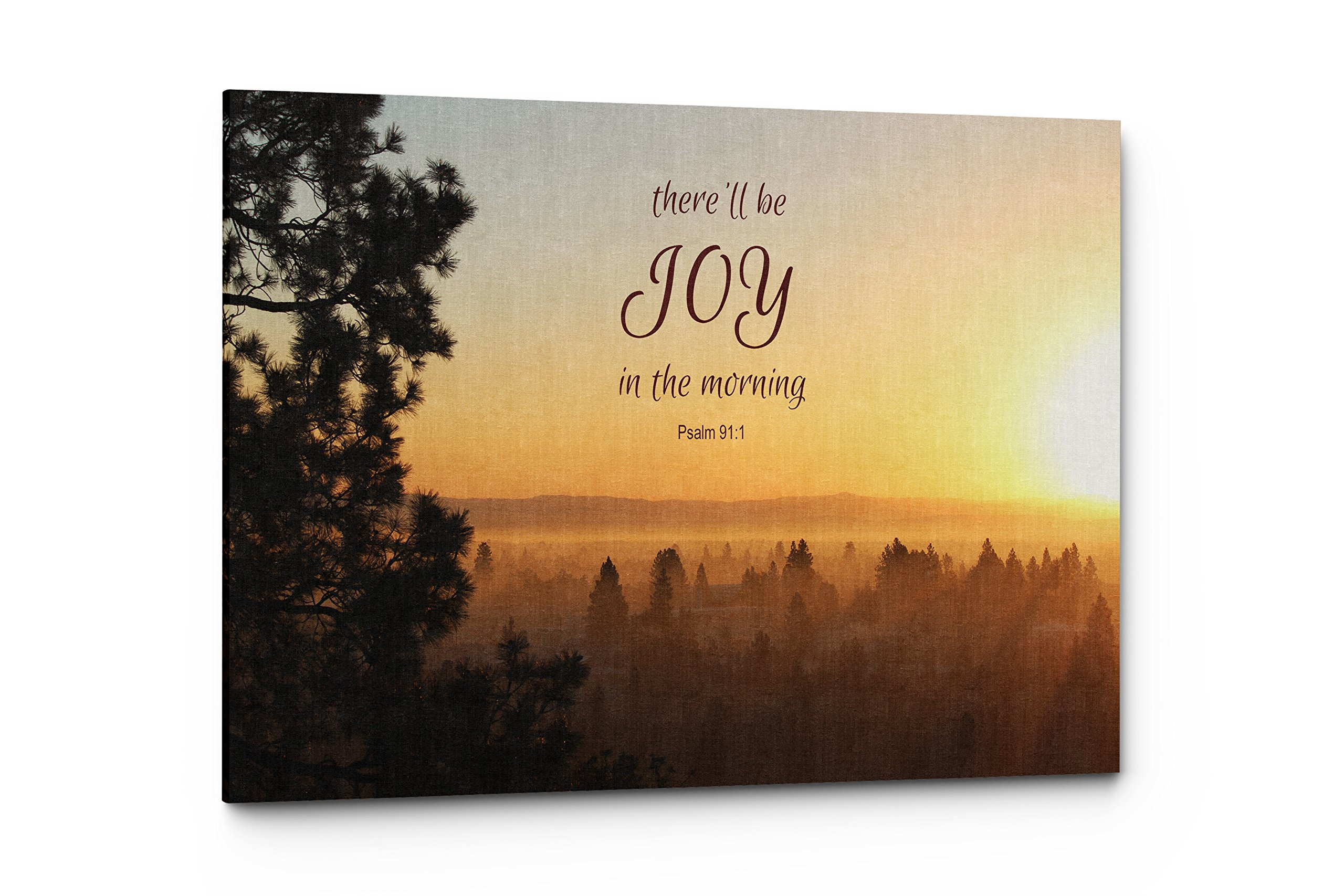 Psalms There'll Be Joy Canvas Wall Art Quote, Christian Religious Wall Decor (There'll be Joy, 17''W x 11''H)