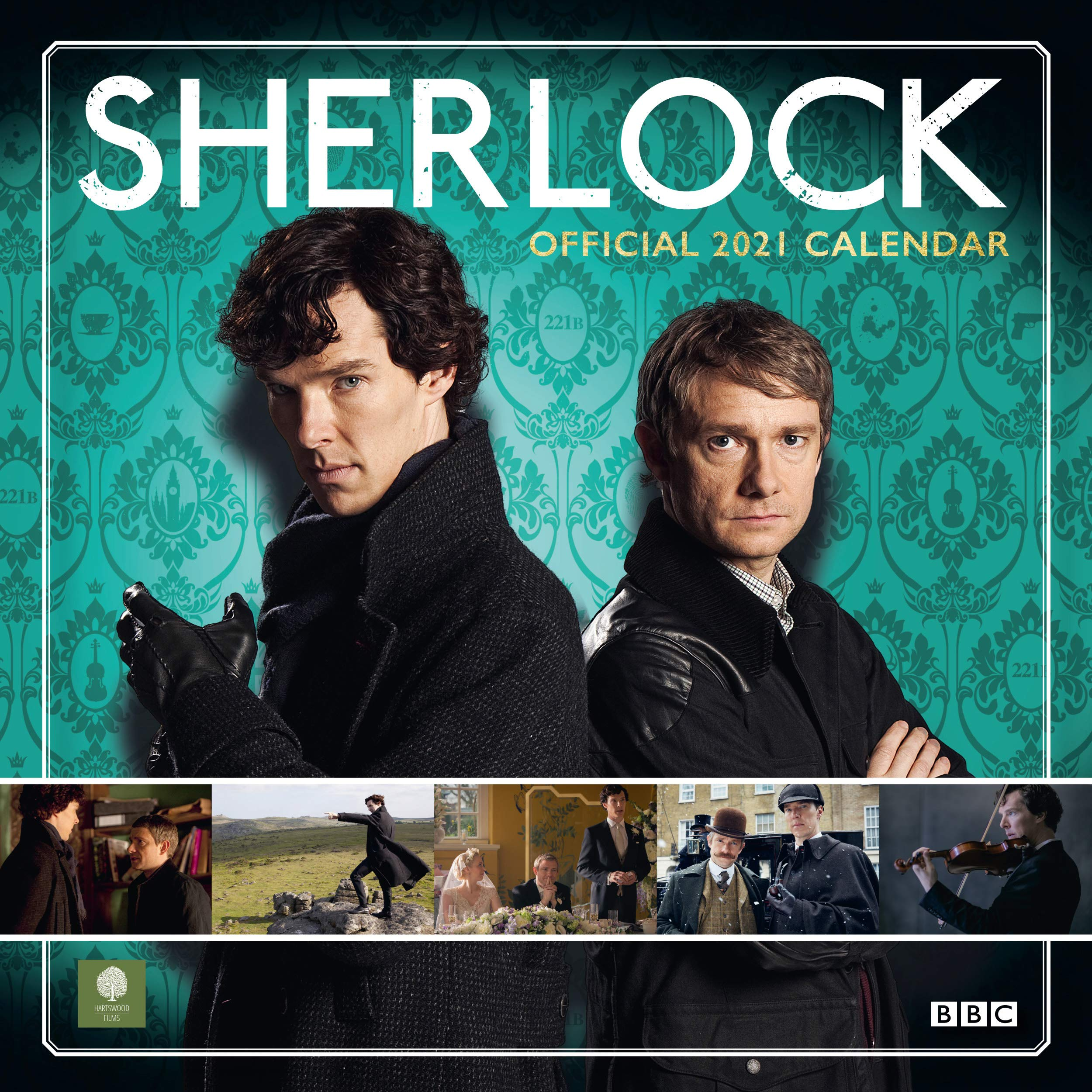 Amazon.fr   Sherlock 2021 Calendar   Official Square Wall Format