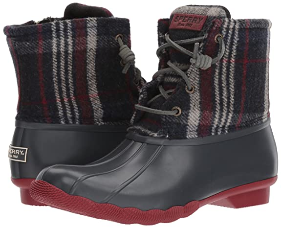 Amazon  | Sperry Top Sider Damens's Wool Saltwater Wool Damens's Plaid Rain Boot de7daf