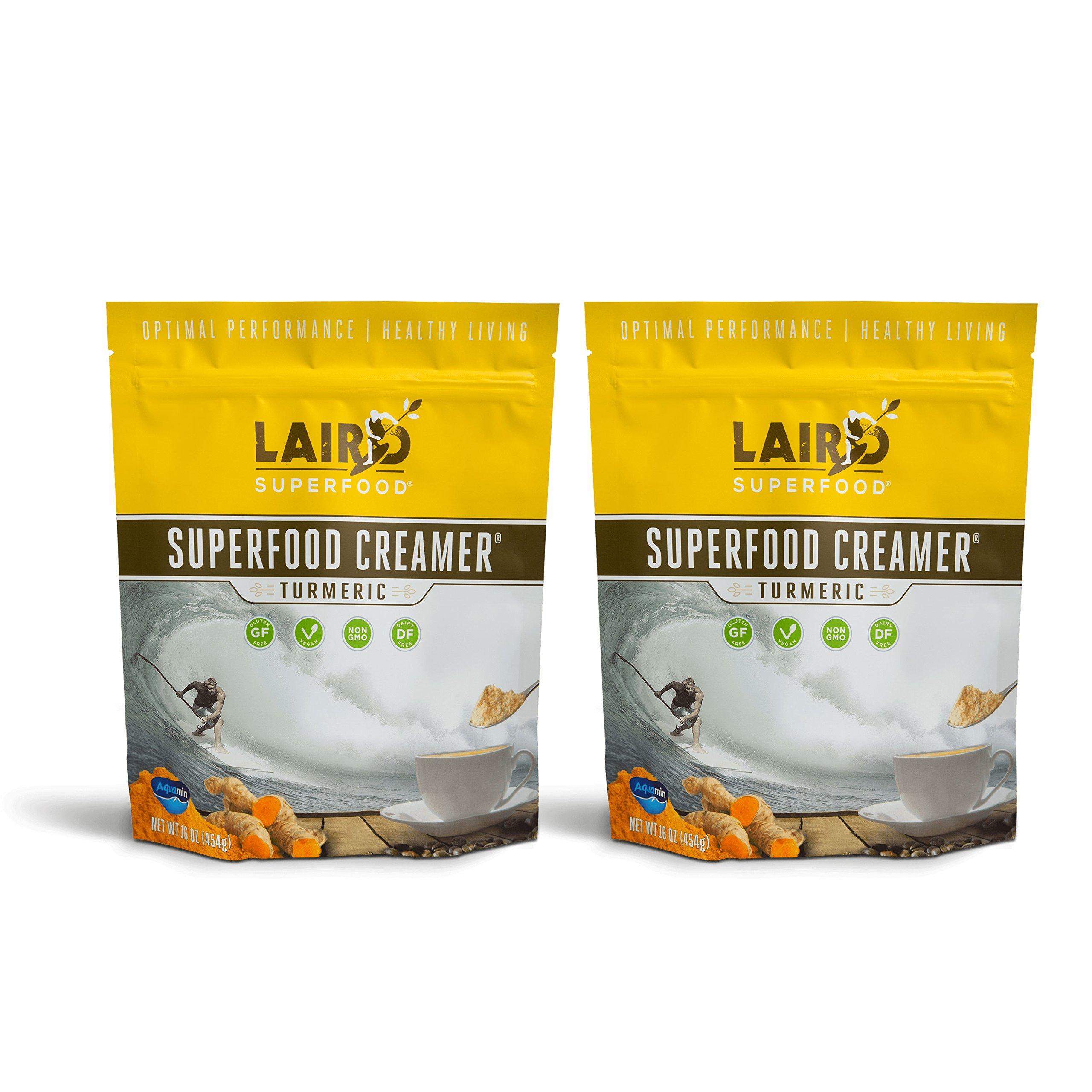 Laird Superfood Coffee Creamer Turmeric | Non-Dairy | Paleo | Gluten Free | Vegan | Soy Free - 2 lb