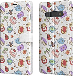 Lex Altern Wallet Case Compatible with Samsung Galaxy Note 20 Ultra 5G S20 S10 Plus S9 8 A71 A70 A50 A21 Kawaii Girly Shockproof Cute Bee Books Magnetic Stars Flip Strawberry Slim Protective walh032