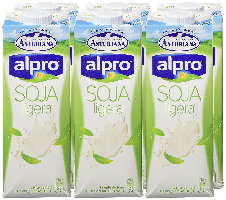 Alpro Central Lechera Asturiana Bebida de Soja Ligera - Paquete de 6 x 1000 ml - Total: 6000 ml: Amazon.es: Alimentación y bebidas
