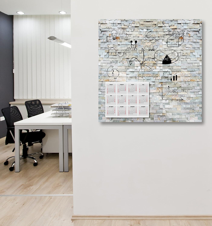 Schiefer Cuadros Lifestyle Markerboard//Magnettafel//Whiteboard aus Acrylglas inkl Boardmarker und 10 Supermagneten Steinoptik Gr/ö/ße:70x50 cm