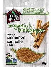 Club House, Quality Natural Herbs & Spices, Organic Ground Cinnamon, 40g