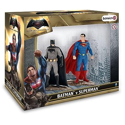 Schleich DC Comics - Set 2 figuras, Batman y Superman: Juguetes y juegos
