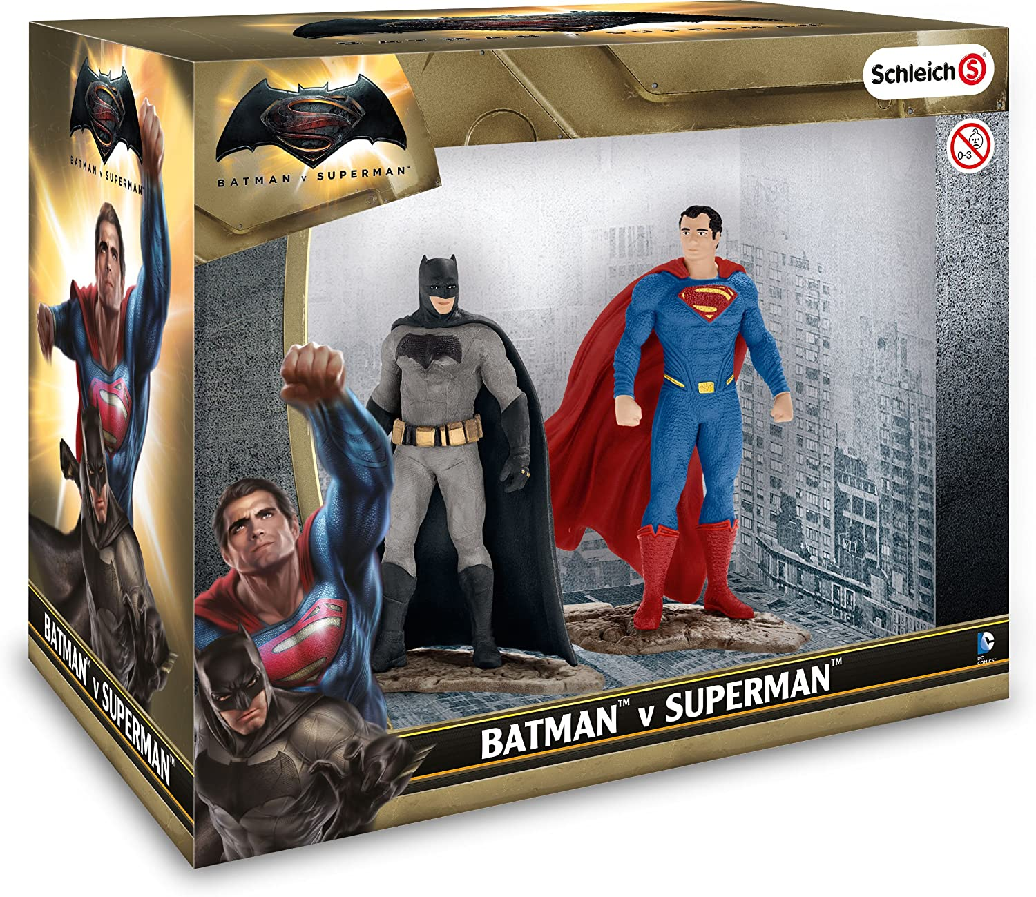 Schleich 22529 Batman V Superman Justice League Scenery Pack Figure Set-Nouveau