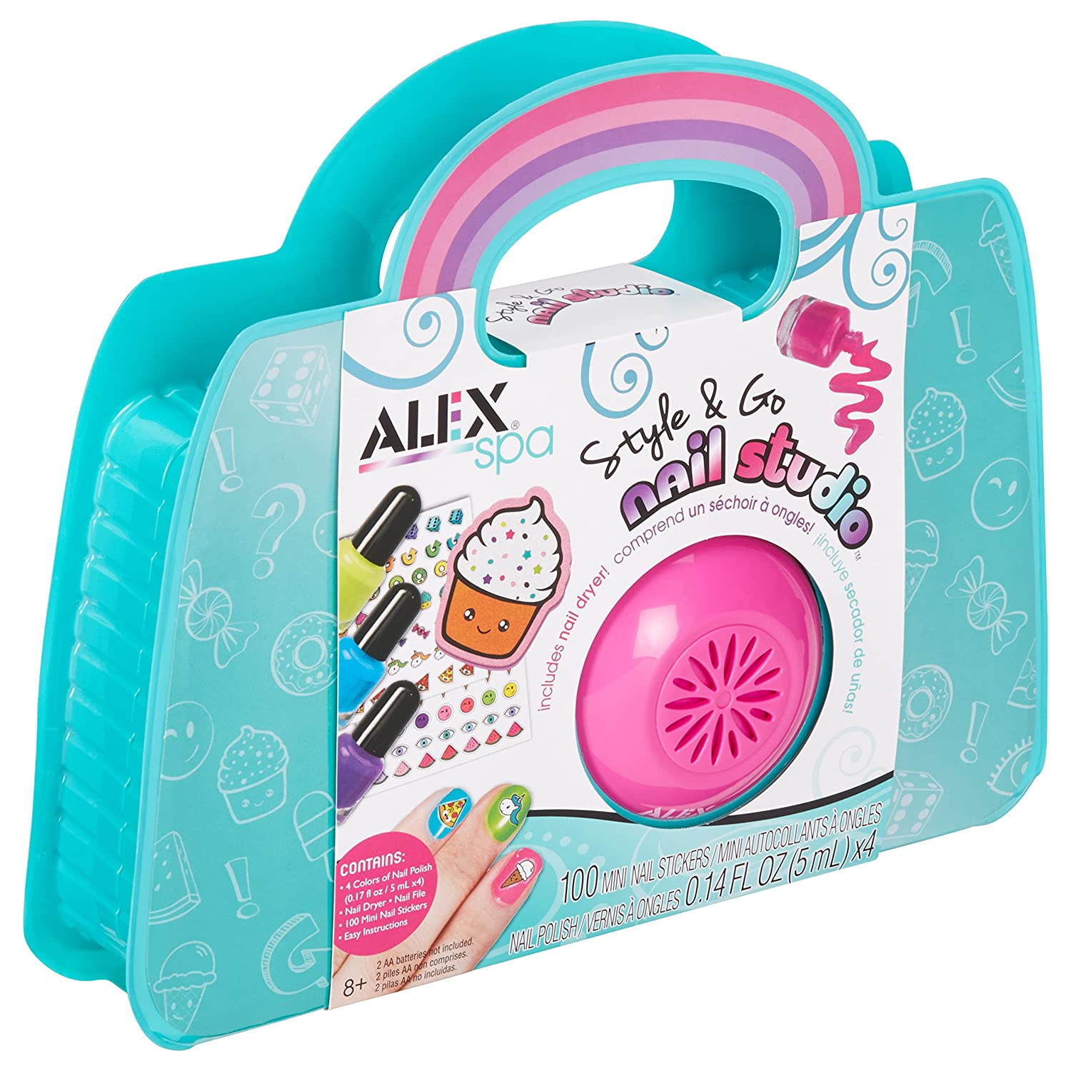 Amazon.com: ALEX Spa Style & Go Nail Studio: Toys & Games