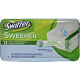 Swiffer Sweeper Wet Mopping Cloths Mop And Broom Floor Cleaner Refills Open Window Fresh Scent 12 Count (Pack of 3)