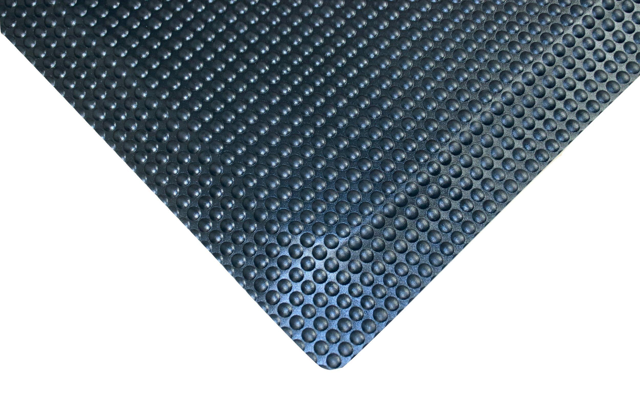 Rhino Mats RFLX36BX42 Reflex Anti-Fatigue Mat, Vinyl, 3' x 42' x 5/8'', Black by Rhino Mats